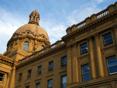 Legislative Building in Edmonton, Alberta