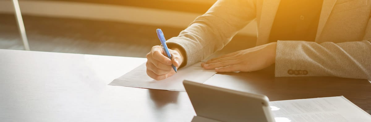 Signing an Enduring Power of Attorney