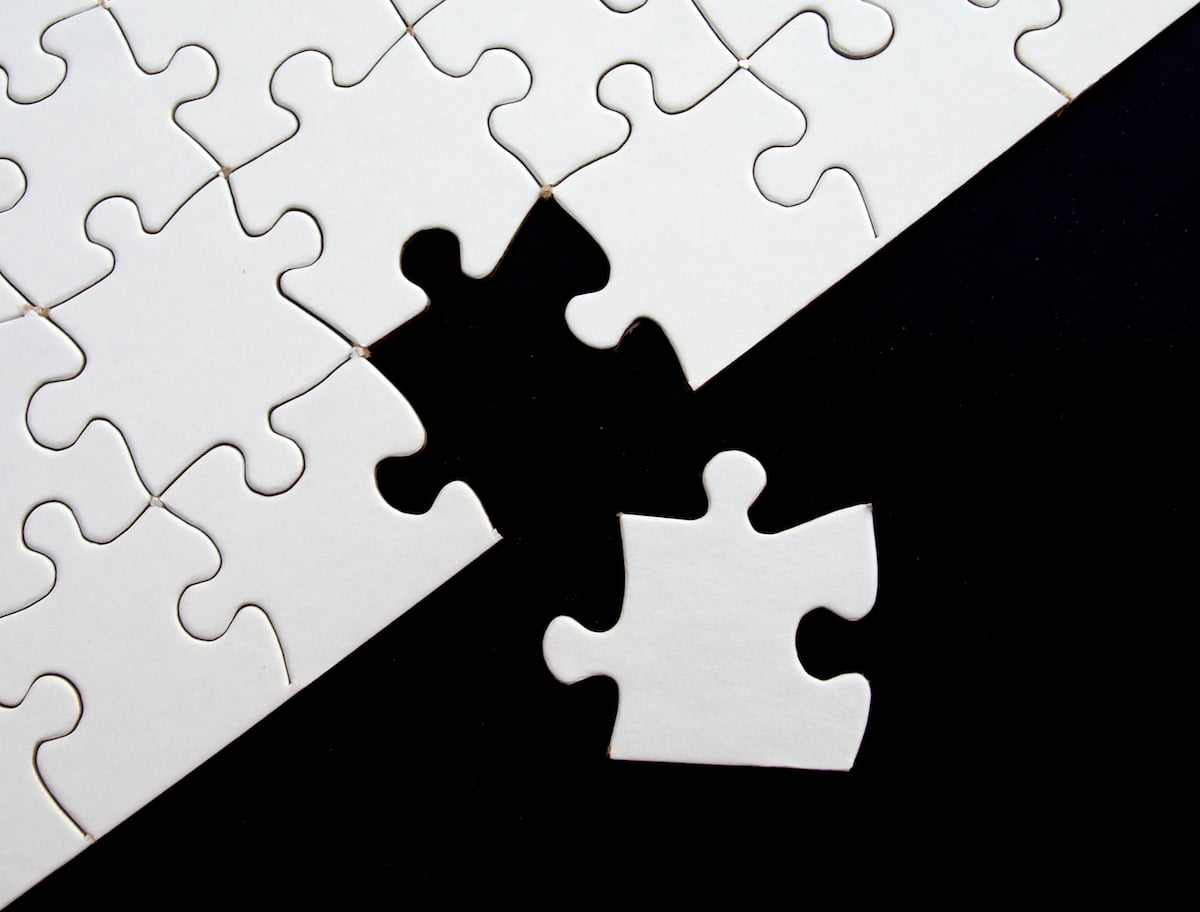 a missing puzzle piece